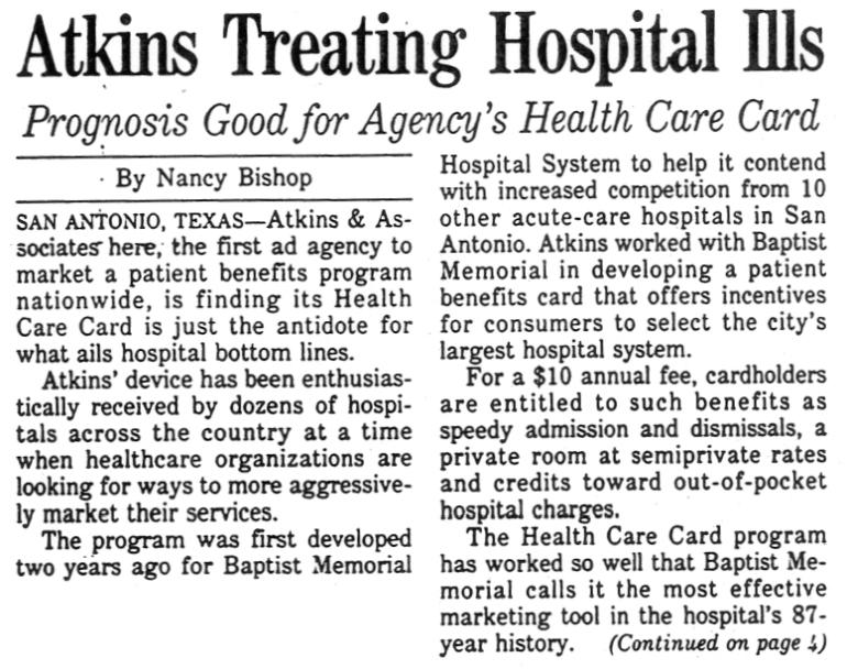 Baptist Memorial Hospital System—Health Care Card