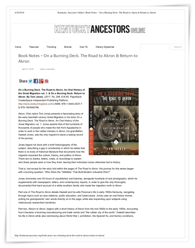 On A Burning Deck: Review Kentucky Ancestors Online