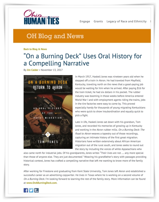On A Burning Deck: Review Ohio Humanities