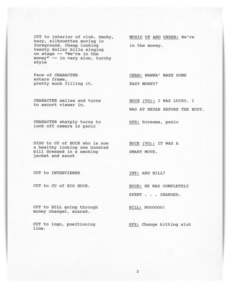 Bexar Savings (unproduced script)