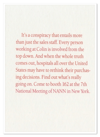Colin Medical Instruments—Trade Show Flyer