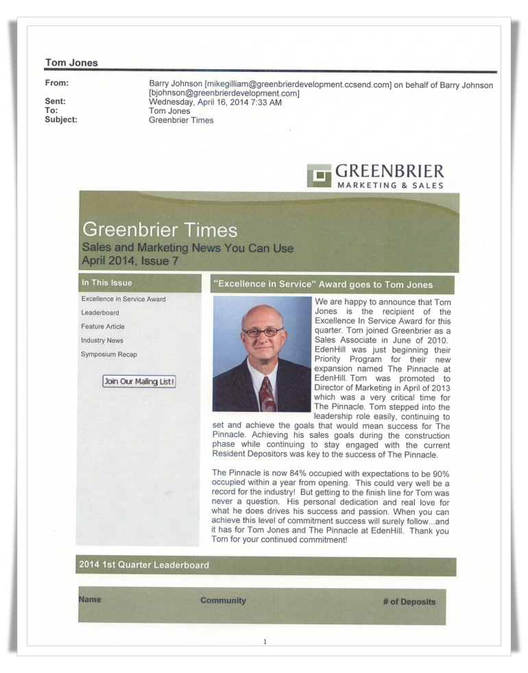 Greenbrier Development—EdenHill Communities