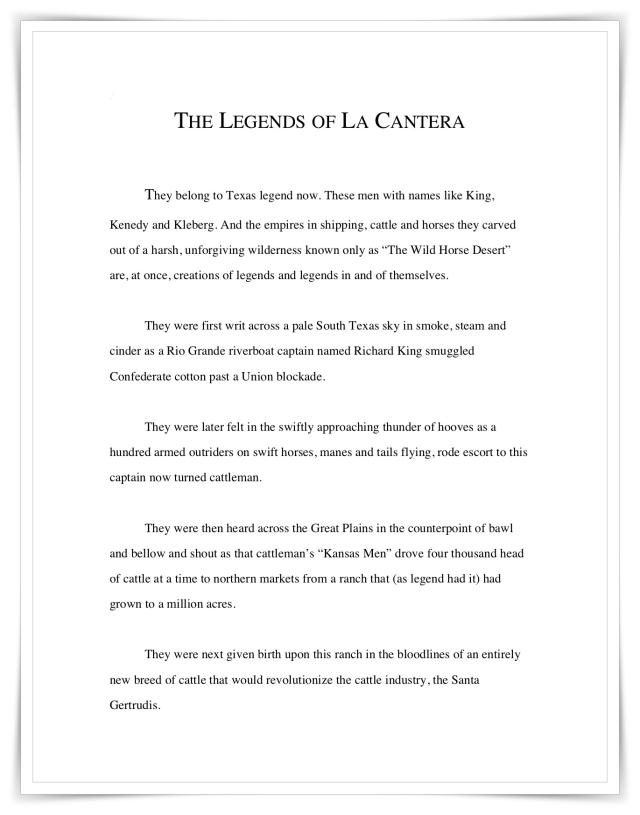 """The Westin La Cantera—""""Legends"""""""