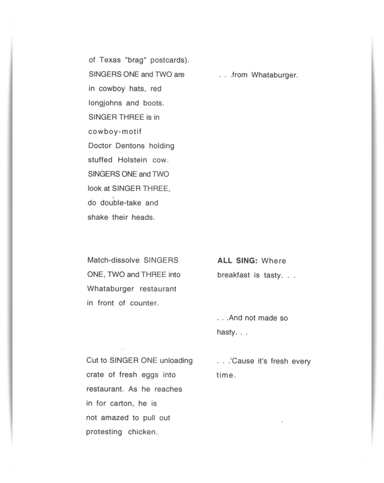 Whataburger—Riders In The Sky (unproduced script)